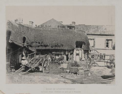 Ferme au Toit de Chaume, Vers, Essais De Lithophotographie Lemercier, Rose-Joseph  (French, 1803-1877)