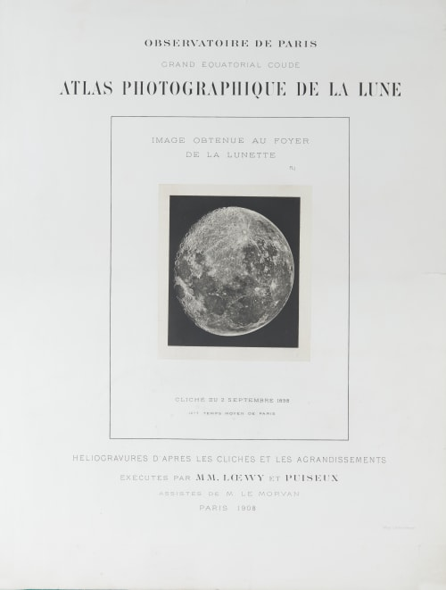 Atlas photographique de la Lune (cover) Loewy, Maurice  (French, 1833-1907)Piuseux, Pierre Henri  (French, 1855-1928)