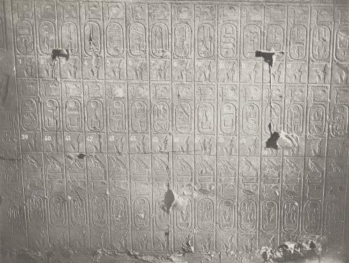 26 Abydos Temple de Séti Table des Rois 2e Partie Unknown