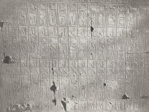 27 Abydos Temple de Séti Table des Rois 3e Partie Unknown