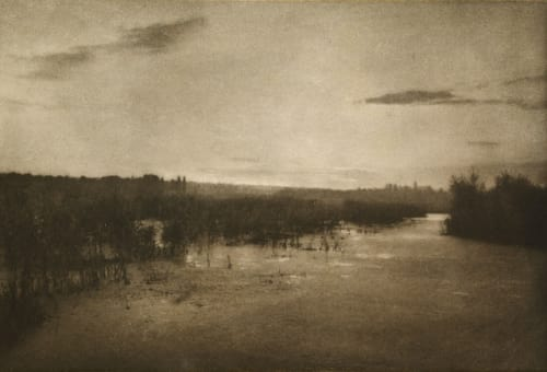 Le Soir sur lEtang Marissiaux, Gustave  (Belgian, 1872-1929)