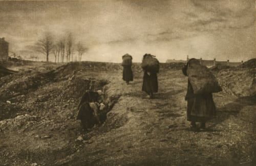 Retour au Coron Marissiaux, Gustave  (Belgian, 1872-1929)