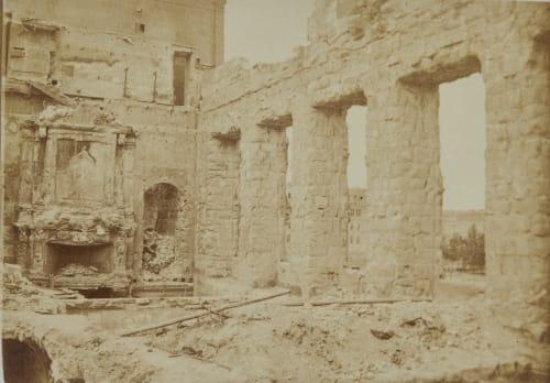 Ruines d'Hôtel de Ville. sale du Trône Marville, Charles  (French, 1813-1879)