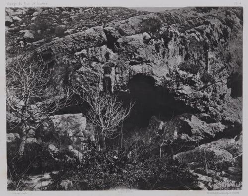 PL. 4 Nahr El Kelb: Grotte Audessus de la Source Vignes, Louis  (French, 1831-1896)