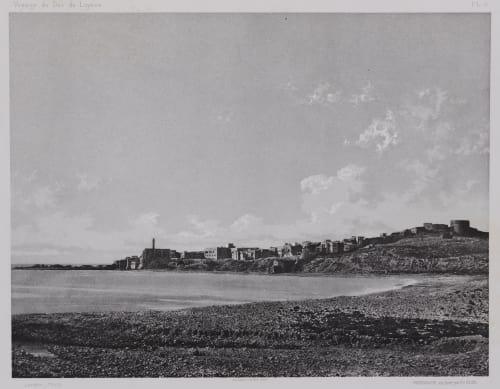 PL. 6 Sidon: Prise du Cimetiere Chretien Vignes, Louis  (French, 1831-1896)