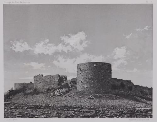 PL. 8 Sidon: Chateau de St Louis Côte Sud Vignes, Louis  (French, 1831-1896)