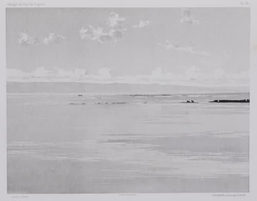 PL. 18 Tyr: Brise-Lames du Port Égyptien. Vue Prise Des Dunes Vignes, Louis  (French, 1831-1896)