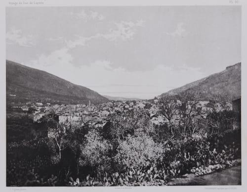 PL. 20 Naplouse: Bases Des Monts Garizim et Ebal Vignes, Louis  (French, 1831-1896)