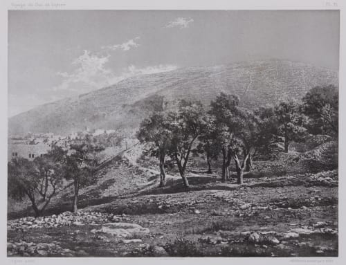 PL. 21 Naplouse: Mont Garizim Vignes, Louis  (French, 1831-1896)