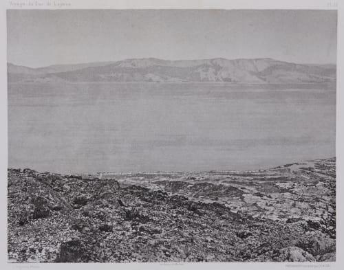 PL. 26 Mer Morte: Vue Prise D'Ain-Jidy. (Engaddi) Vignes, Louis  (French, 1831-1896)