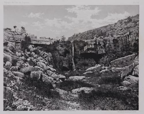 PL. 34 Ain Mousa: Au Pied du Mont Nebo Vignes, Louis  (French, 1831-1896)