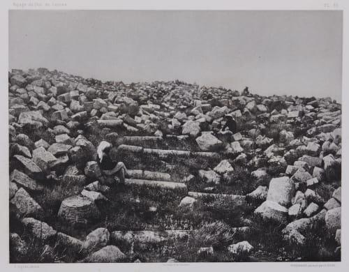 PL. 35 Djebel-Mousa: Santuaire Ruine Situé au Sommet Vignes, Louis  (French, 1831-1896)