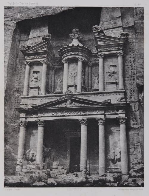 PL. 44 Petra: Khasneh-Firoun Vignes, Louis  (French, 1831-1896)