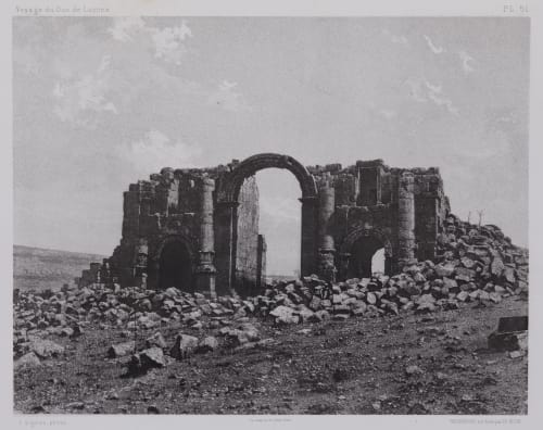 PL. 51 Djerash: Arc de Triomphe Vignes, Louis  (French, 1831-1896)