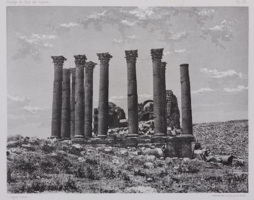 PL. 55 Djerash: Temple de Jupiter Vignes, Louis  (French, 1831-1896)