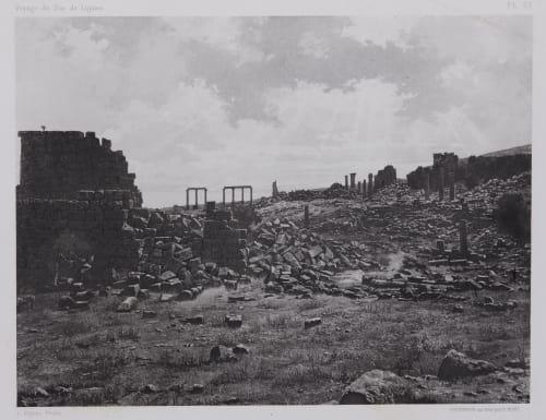PL. 57 Djerash: Bains et Vue Prise Vers le Sud Vignes, Louis  (French, 1831-1896)