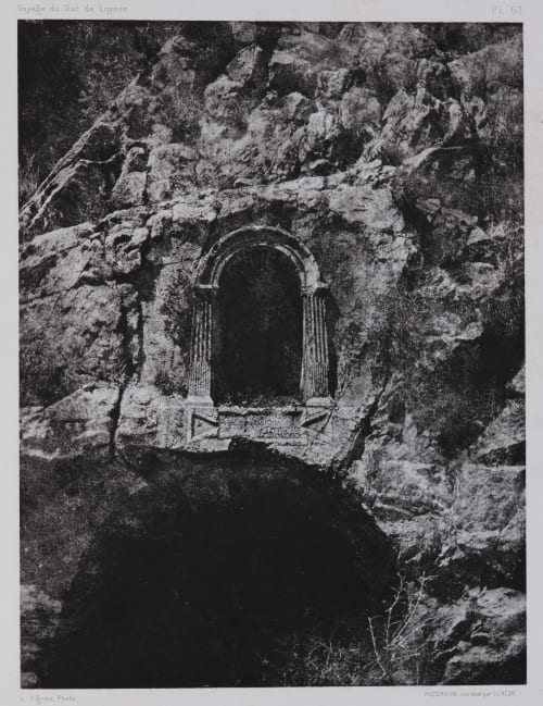 PL. 63 Banias: Niche Pres de la Grotte de Pan Vignes, Louis  (French, 1831-1896)