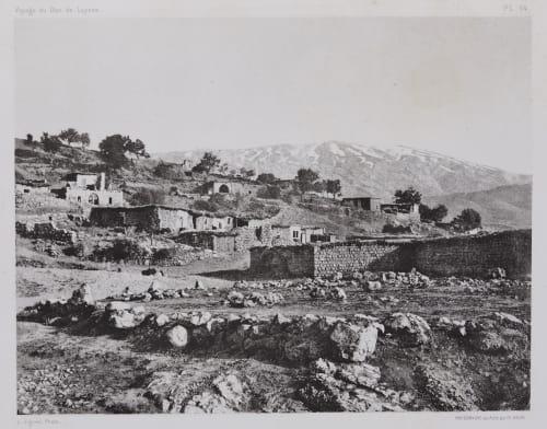 PL. 64 Racheya: et le Djebel-es-Scheikh Vignes, Louis  (French, 1831-1896)