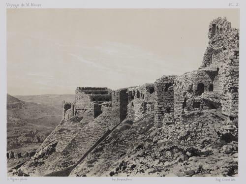 PL. 3 Karak. Angle Nord est de la Forteresse Sauvaire, Henri  (French, 1831-1896)