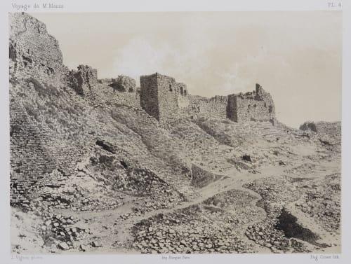 PL. 4  Karak. Face Sud est de la Forteressa Sauvaire, Henri  (French, 1831-1896)