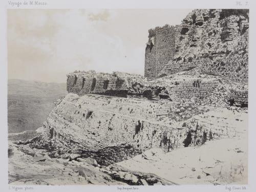 PL. 7 Karak. Vue du Grand Birket En-Nasser et du Fossé Taillé Dans le Roc Sauvaire, Henri  (French, 1831-1896)