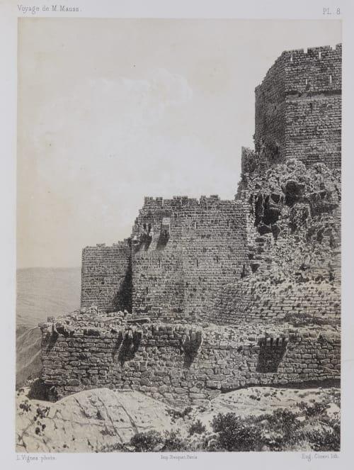 PL. 8 Karak. Extrémité Sud-Ouest du Château et de la Premiére Enceinte de la Forteresse Sauvaire, Henri  (French, 1831-1896)