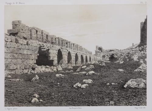 PL. 9 Karak. Chemin de Ronde de la Premiére de la Forteresse Sauvaire, Henri  (French, 1831-1896)