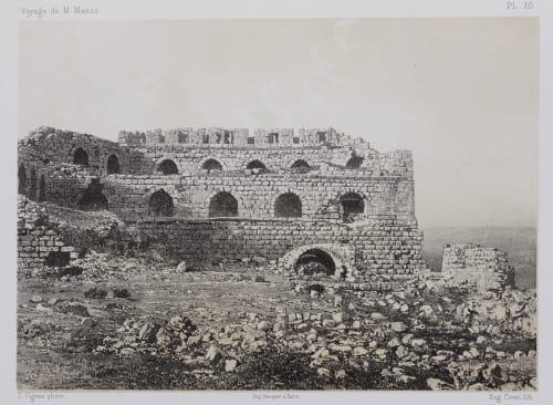 PL. 10 Karak. Vue Intérieure de L'Extrémité Sud de la Forteresse Sauvaire, Henri  (French, 1831-1896)