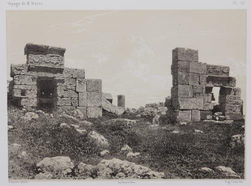 PL. 15 Zat-Rass. Ruines des Propylées du Grand Temple Sauvaire, Henri  (French, 1831-1896)
