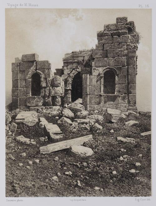 PL. 16 Zat-Raz. Face Sud du Petit Temple Sauvaire, Henri  (French, 1831-1896)