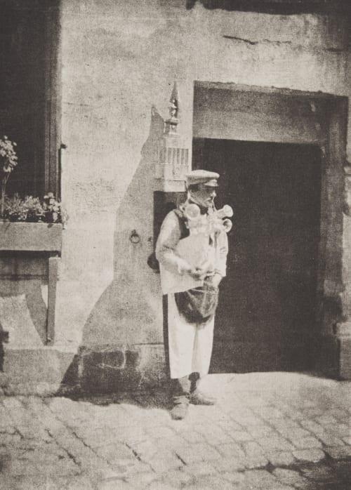 Un marchand de coco à Paris Negre, Charles  (French, 1820-1880)