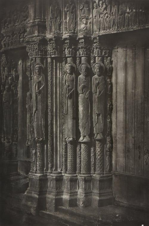 Cathédrale de Chartres.  Statues Colonnes de la Porte Centrale du Portal Royal Negre, Charles  (French, 1820-1880)