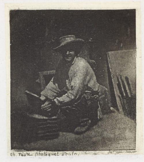 Le Maçon accroupi. Début de l'anné Negre, Charles  (French, 1820-1880)