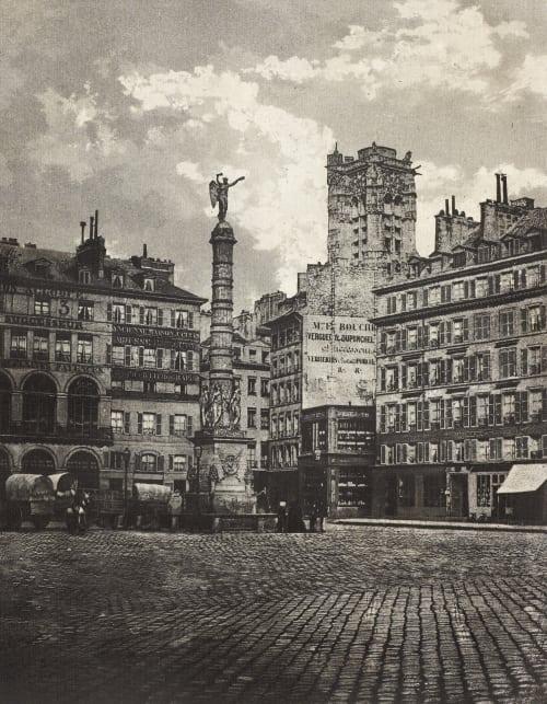 Place du Chåtelet Negre, Charles  (French, 1820-1880)