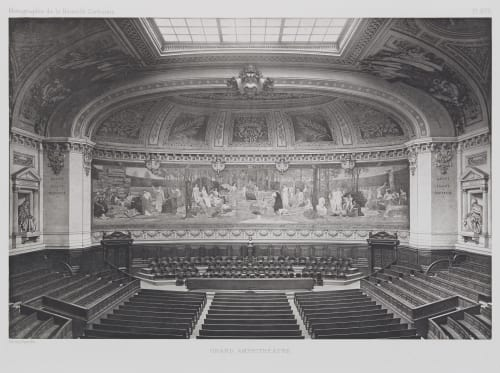 Grand Amphithéâtre (Pl. XVII) Nénot, Henri-Paul   (French, 1853-1934)