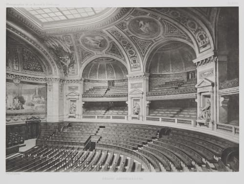 Grand Amphithéâtre (Pl. XVIII) Nénot, Henri-Paul   (French, 1853-1934)