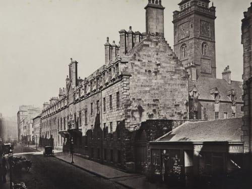 The College, from High Street Annan, Thomas  (Scottish, 1829-1887)