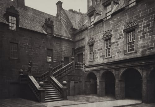 The Outer Court, with the Great Stair Leading to the Fore-Hall Annan, Thomas  (Scottish, 1829-1887)
