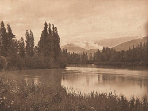 Bords de L'Isère, le soir (alt) De Montel. Paul  (French, b.active 1890s)