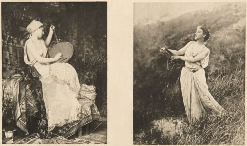 Diptych: Prélude & Une Muse Farnsworth, Emma J.  (American, 1860-1952)Le Begue, Rene  (American, 1857-1914)