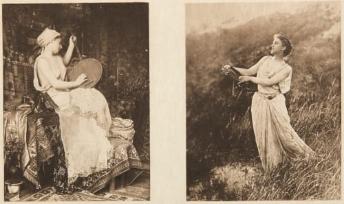 Diptych: Prélude & Une Muse (alt) Farnsworth, Emma J.  (American, 1860-1952)Le Begue, Rene  (American, 1857-1914)