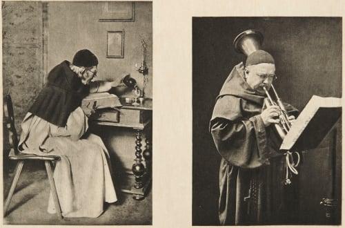 Diptych: Bienheureux & Un Solo Dumont, John E.  (American, 1856-1944)Scolik, Charles  (American, b.active 1890s)
