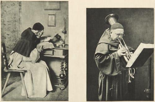 Diptych: Bienheureux & Un Solo (alt) Dumont, John E.  (American, 1856-1944)Scolik, Charles  (American, b.active 1890s)