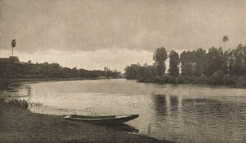 Crépuscule a Pont-de-l'Arche Jacquin, Charles  (French, b.active 1890s)