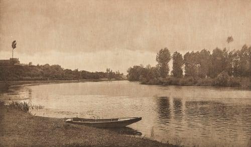 Crépuscule a Pont-de-l'Arche (alt) Jacquin, Charles  (French, b.active 1890s)