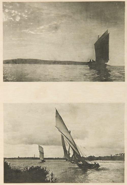 Diptych: Marine & Régales enn Loire (alt) Fraisse, Joseph  (French, b.active 1890s)Srna, Carl  (French, b.active 1890s)