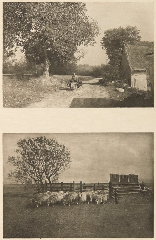 Diptych: Retour des Champs & Changement de Paturage Greger, Karl  (British, b.active 1890s)Naudot, Paul  (British, b.active 1890s)