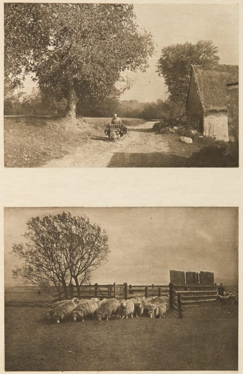 Diptych: Retour des Champs & Changement de Paturage (alt) Greger, Karl  (British, b.active 1890s)Naudot, Paul  (British, b.active 1890s)