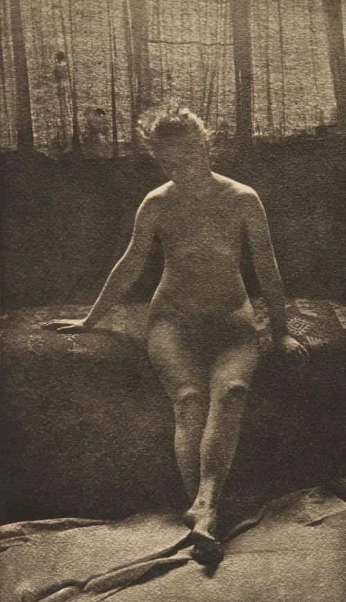 Étude de Femme Drains, Albert-Edouard  (Belgian, 1855-1925)