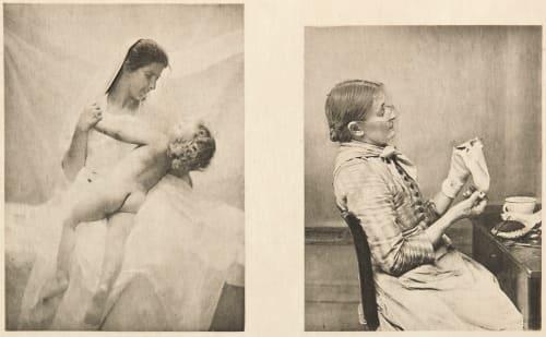 Diptych: Amour maternel & Bien embarrassée Bovi, Michel  (Italian, b.active 1890s)Schramm, Hans  (Italian)